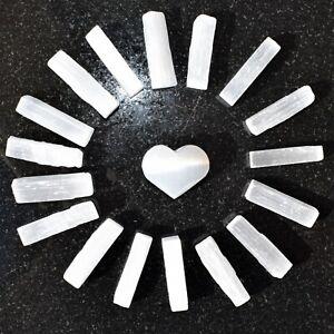 Natural-Selenite-Crystal-Sticks-17-20-Wands-1-2-LB-Selenite-Puffy-Heart