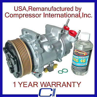 A//C COMPRESSOR WITH ONE YEAR WARRANTY. 2010-2012 MINI COOPER USA REMAN