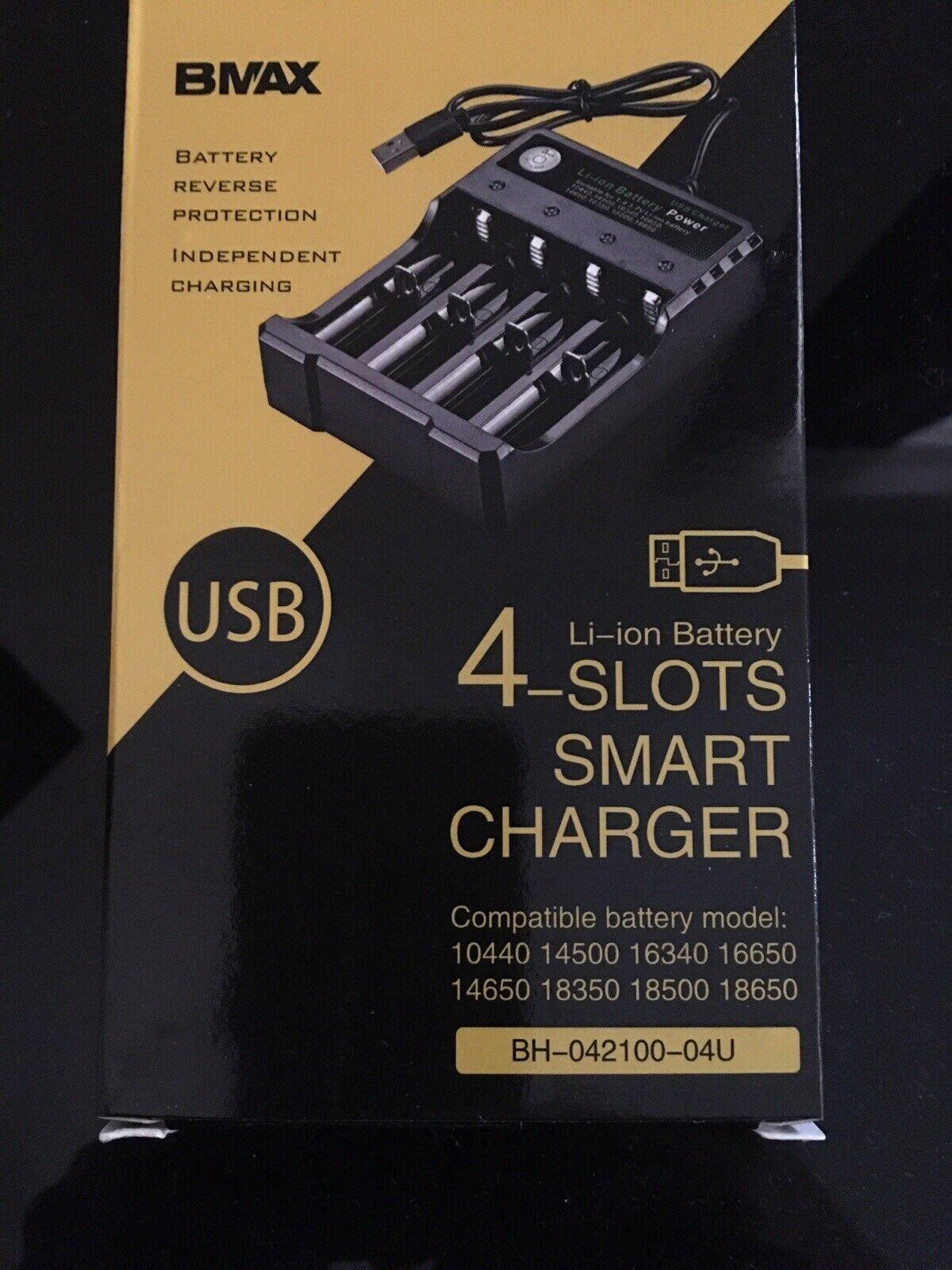 4 slots smart USB 18650 li-ion battery charger