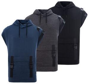 fb69b33682e3dd Mens New Sleeveless Hoodie Hooded Sweatshirt Sweater Jumper Pullover ...