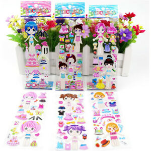 5-Sheets-3D-Puffy-Bubble-Stickers-Toys-Dress-up-Girl-Changing-Clothes-KidsQ6Q