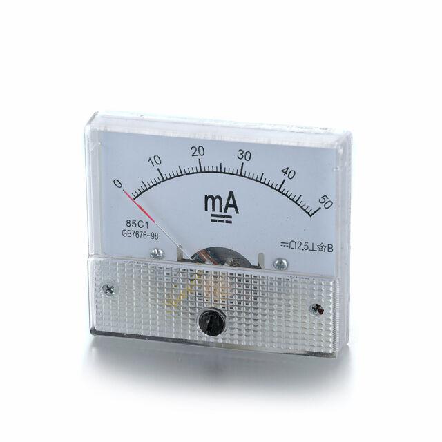 DC 0-50mA Analog Panel Meter Current Amperemeter Ammeter GB/T7676-98 85C-1