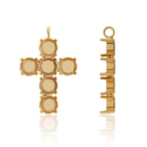 Choisissez Couleur Brass Caution base 1 Boucle pour l/'enrobage 1088 Chaton 8.3 mm cristaux