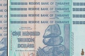 Image Is Loading 4 100 Trillion Zimbabwe Dollar Money Currency Unc