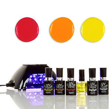 UV-NAILS Salon Quality Gel Polish Starter Kit With LED Lamp V10-B-2 NE10,NE8,NE3