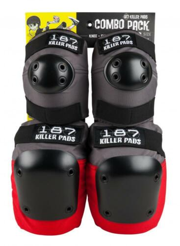 187 Killer Combo Pack Adults Pro Protection Pad Set Elbow /& Knee Guards