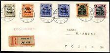 POLEN 1919 130-134 R-SATZ-BRIEF (A8566