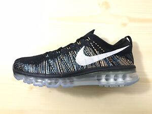 Details about New Nike Flyknit Air Max 620469 015 BlackWhiteMulti Color Glow Sneakers Sz 8