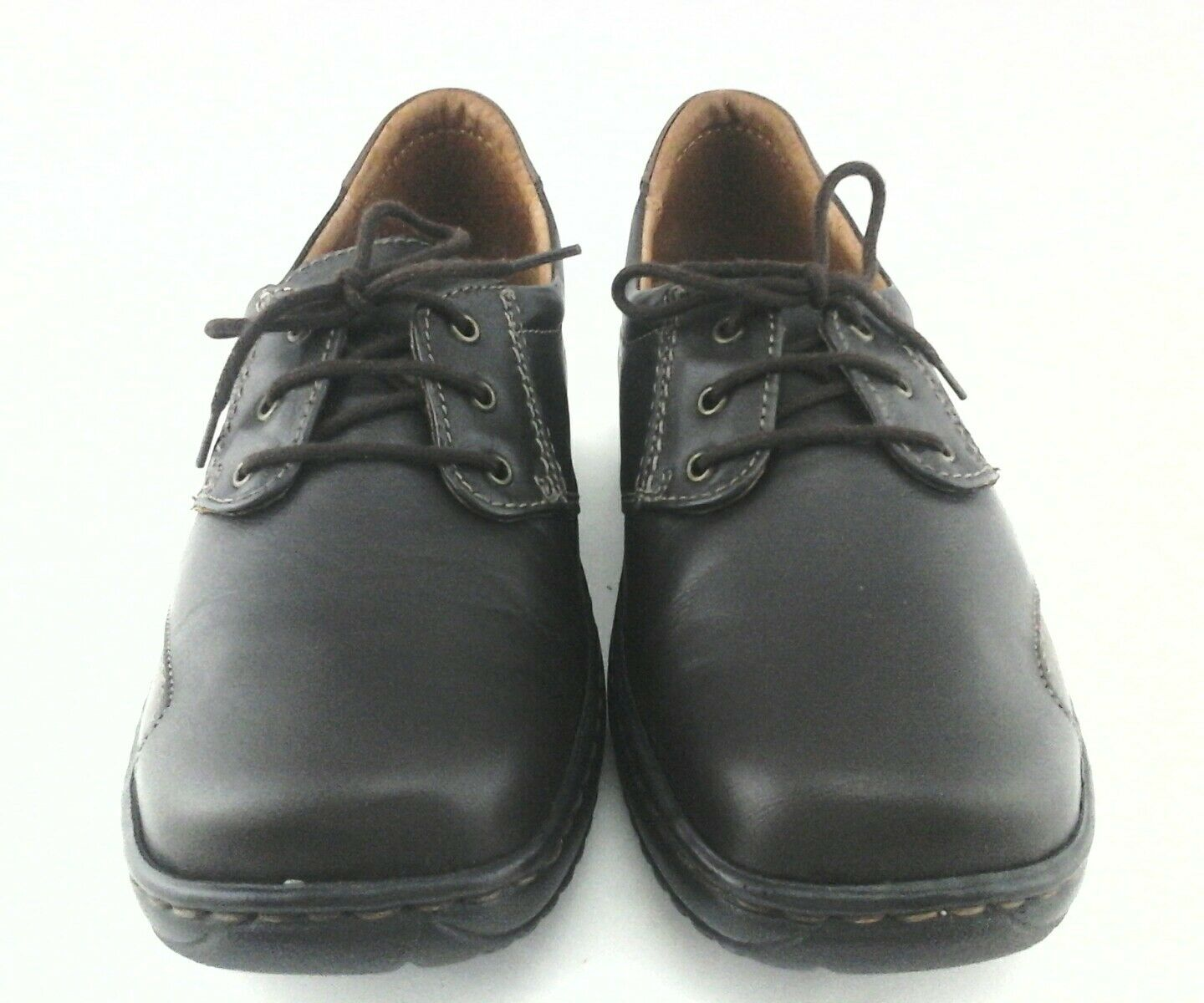 JOSEF SEIBEL shoes Brown Leather Leather Leather OXFORDS Lace Up Women's US 6 6.5 EU 37  150 951abf