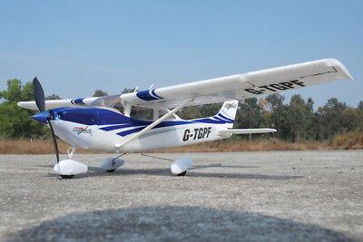 Süß GehäRtet Park Flite Cessna 182 Skylane Rtf 2.4ghz - Blue: Ready To Fly Rc Plane Tgp0355b