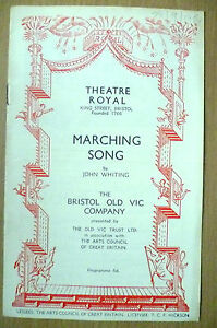 Theatre-Royal-Bristol-Programme-1954-MARCHING-SONG-by-John-Whiting