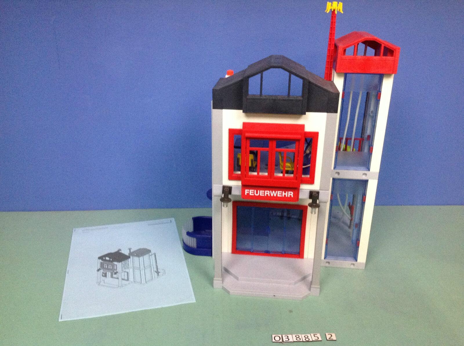 (O3885.2) (O3885.2) (O3885.2) playmobil Caserne de pompiers centre d'entraînement ref 3885 588dd1