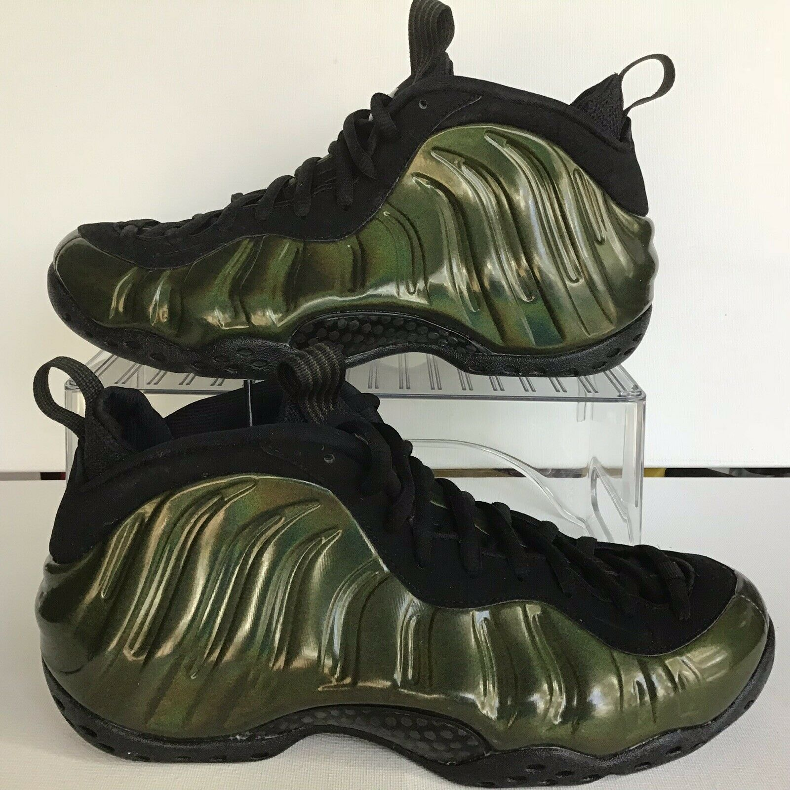 1e0863faab1 Nike Air Foamposite One Legion Green Black Size 10 No Lid 314996 301 ...