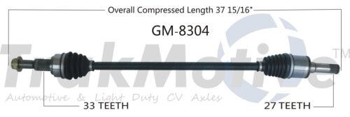 CV Axle Shaft Rear Left SurTrack GM-8304