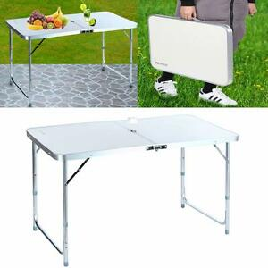 folding table 4 39 portable plastic indoor outdoor picnic party dining camp tables ebay. Black Bedroom Furniture Sets. Home Design Ideas