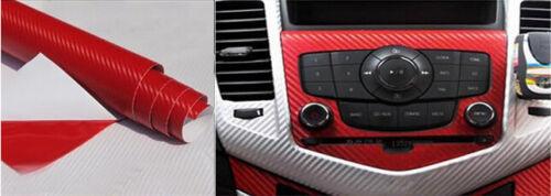3D Waterproof Red Carbon Fiber Vinyl Car Wrap Sheet Roll Film Sticker Decal Pape