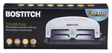 Bostitch Ez Squeeze 3 Hole Three Paper Punch 20 Sheet 2220am Antimicrobial New