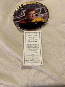 Star Trek Deep Space Nine Chief Miles O'Brien plate Hamilton Collection