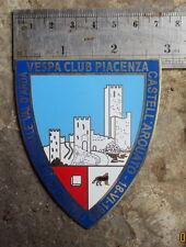 VINTAGE VESPA CLUB PIACENZA1960 PLACCA PLAKETTE BADGE GS 150 160 PART SALE