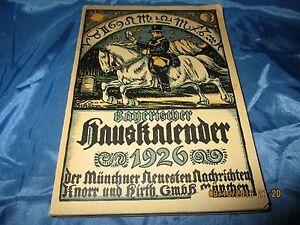 Antik-Buch-1926-Bayerischer-Haus-Kalender-der-Muenchner-Neuesten-Nachrichten