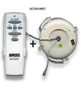 Hampton Bay Ceiling Fan Remote Uc7078t: Image is loading Hampton-Bay-Remote-control-Ceiling-Fan-Kit-for-,Lighting