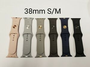 Apple Used  iWatch Replacement Silicone Band, 38mm S/M, various colors
