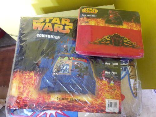 Neue Baumwolle Star Wars Kuschel & Blatt Set Doppel Kinder 4 Tlg Htf Nummern