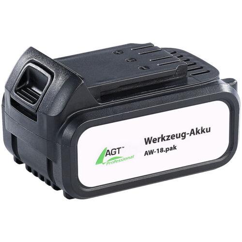Li-Ion-Werkzeug-Akku AW-18.pak AGT Ersatzakku 18 V//4000 mAh AGT Akku