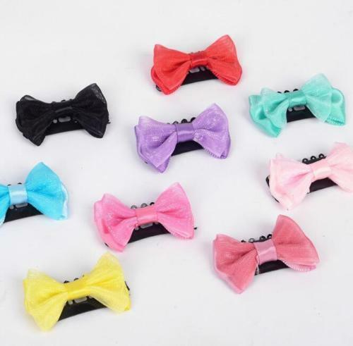 10pcs//5 Pairs Baby Girl/'s Mixed Colors Hair Bow Safe Mini Latch Clips Hair Clips