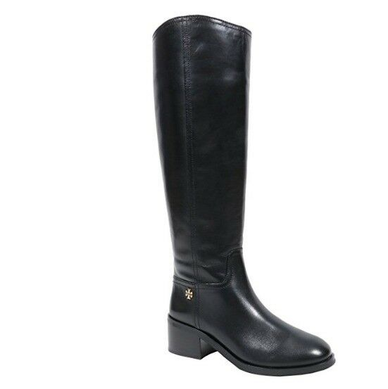 Tory Burch shoes riding Boots Fulton 55mm Veg Leather Boot 9 Black