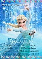 NEW Personalised Birthday Party Thank You Card  Frozen Princess Elsa 8 cards  A6