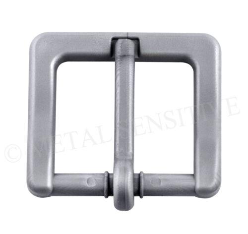 Boucle ceinture plastique 35mm non métalliques métal d/'aéroport gratuit allergie au nickel silver