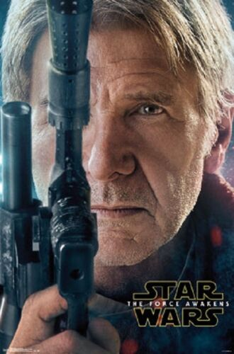 STAR WARS EPISODE VII THE FORCE AWAKENS HAN SOLO POSTER Licensed Authentic 22x34
