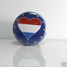 2 Badges Europe [25mm] PIN BACK BUTTON Luxembourg