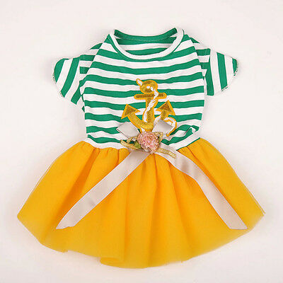 New Small Dog Summer Clothes Cute Pet Dog Dress Lace Skirt Cat Princess Clothes