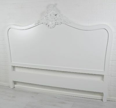 French Style White 4ft6 Double Size Shabby Chic Bed Headboard