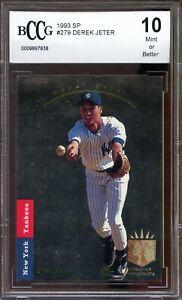 1993-SP-279-Derek-Jeter-Rookie-Card-BGS-BCCG-10-Mint