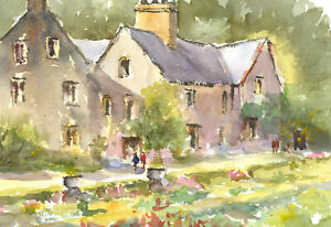 John-A-Case-20th-Century-Watercolour-Village-Vignettes
