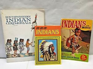 VTG-Rare-Book-LOT-3-American-Indians-of-the-Southwest-tribe-dress-Hopi-ceremony