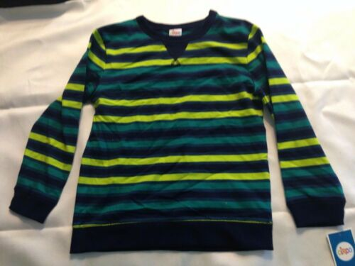 B32 NEW CIRCO Boy/'s SIZE S 6-7 Pullover Sweater GREEN YELLOW STRIPES FREE S//H !