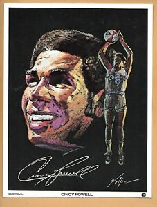 1971 CINCY POWELL KENTUCKY COLONELS ABA BASKETBALL Volpe Marathon print
