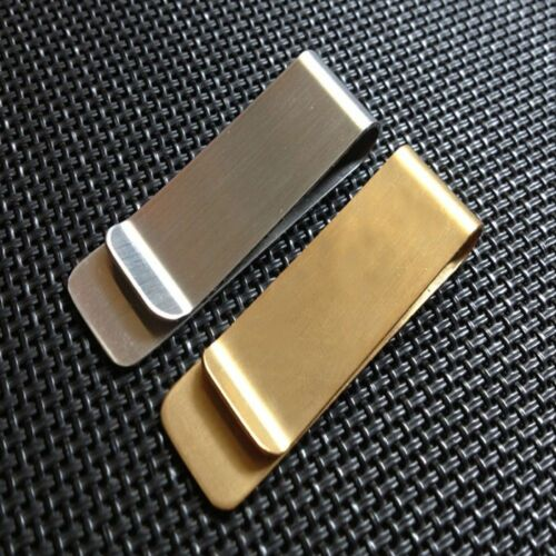 Banknote Holder Gold Color Wallet Cash Clamp Credit Card ID Clips Money Clip