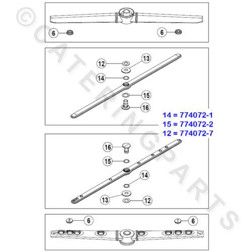 HOBART 774072-1 20.5 /& 24mm FOR DISHWASHER 2 /& 7 TEFLON WASHER RING SET 19