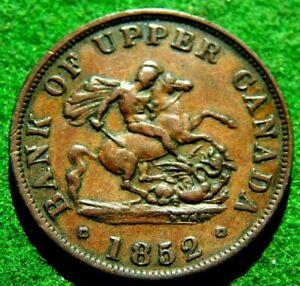 1852 BANK OF UPPER CANADA ONE HALF PENNY BANK TOKEN NICE PIECE L@@K !