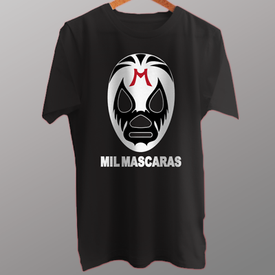 Wrestler Mil Mascaras Mexican Luchador T-Shirt Cotton New