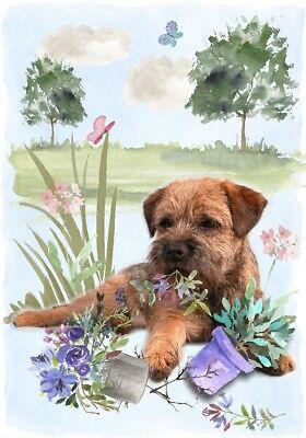 "Staffordshire Bull Terrier Dog 4/"" x 6/"" Blank Card// Notelet Design By Starprint"