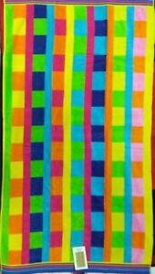 100% De Qualité Multi Couleur Bloc Lime Jumbo Serviette De Plage 100% Coton Égyptien 90 Cm X 170 Cm-afficher Le Titre D'origine Rendre Les Choses Commodes Pour Le Peuple