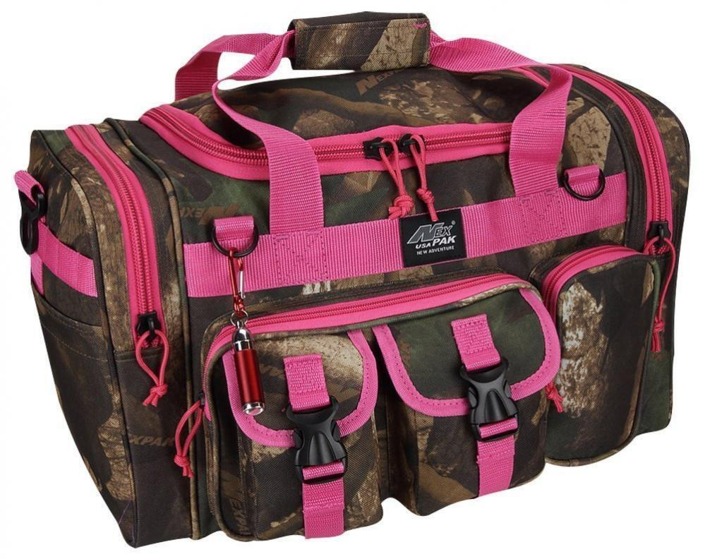Duffle Bag Shoulder Rosa Camo Camouflage Gear Gift Her Damens Camp Hiking New