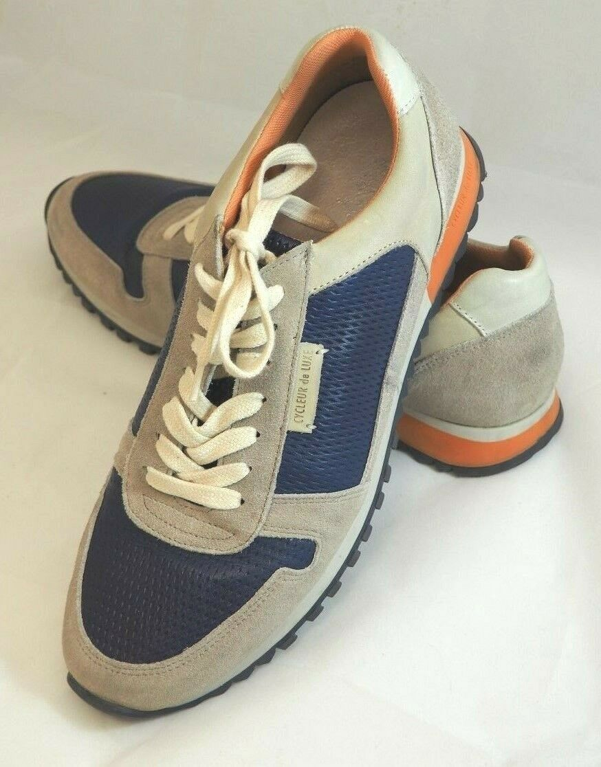 Cycleur de Luxe Dallas Sneakers Sz EU 44 US 10.5 11 bluee Off White orange shoes