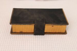 VINTAGE-old-pocket-book-like-purse-container-with-mirror